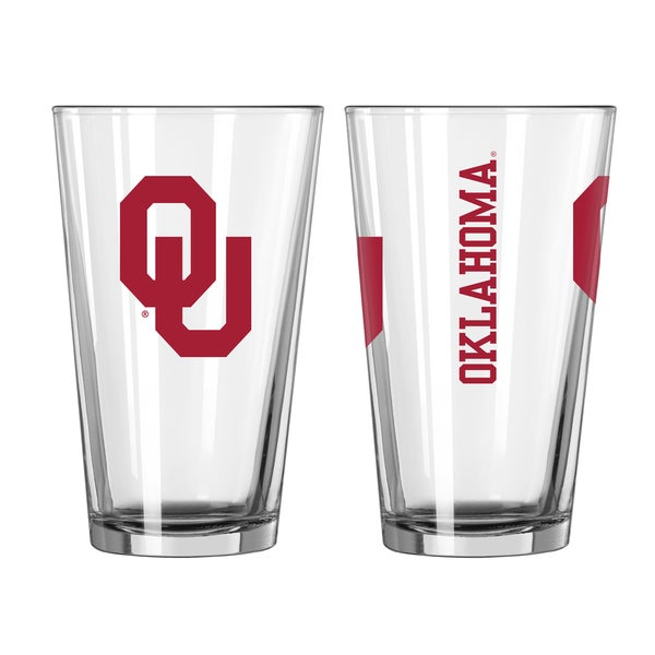 Oklahoma Sooners Game Day Pint Glass 2-Pack