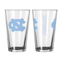 North Carolina Tar Heels Game Day Pint Glass 2-Pack