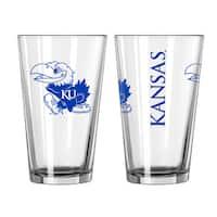 Kansas Jayhawks Game Day Pint Glass 2-Pack
