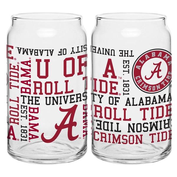 Alabama Crimson Tide 16-Ounce Spirit Glass Can Set