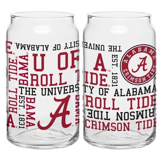 Alabama Crimson Tide 16-Ounce Spirit Glass Can Set