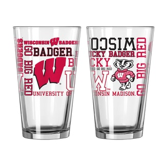 Wisconsin Badgers 16-Ounce Spirit Pint Glass Set