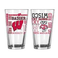 Wisconsin Badgers 16-Ounce Spirit Pint Glass Set