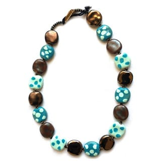 Handmade Kazuri Ceramic Pebbles Necklace (Kenya)