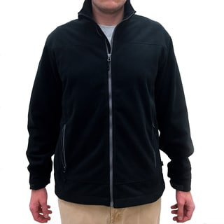 Narragansett Traders Men's Black Fleece Full-zip Jacket