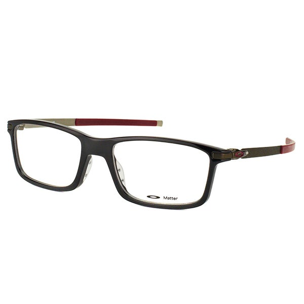 36b236b02a6 Shop Oakley Pitchman OX8050-0553 Polished Black Plastic Rectangle 53mm  Eyeglasses - Free Shipping Today - Overstock - 11782190