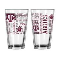 Texas A&M Aggies 16-Ounce Spirit Pint Glass Set