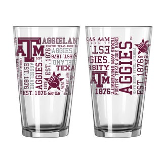 Texas A&M Aggies 16-Ounce Spirit Pint Glass Set