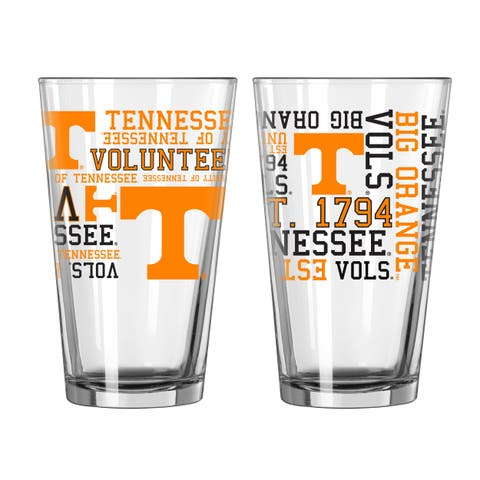 Tennessee Volunteers 16-Ounce Spirit Pint Glass Set