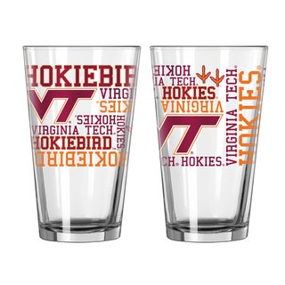 Virginia Tech Hokies 16-Ounce Spirit Pint Glass Set