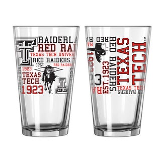 Texas Tech Red Raiders 16-Ounce Spirit Pint Glass Set