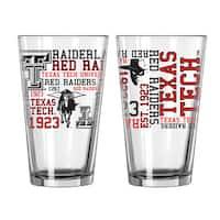 Texas Tech Red Raiders 16-Ounce Spirit Pint Glass Set