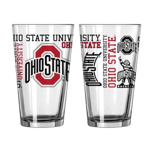 Ohio State Buckeyes 16-Ounce Spirit Pint Glass Set