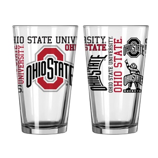 Ohio State Buckeyes 16-Ounce Spirit Pint Glass Set