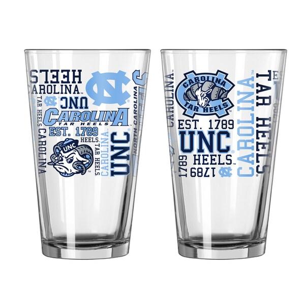 North Carolina Tar Heels 16-Ounce Spirit Pint Glass Set