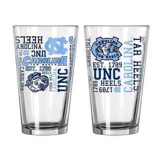 North Carolina Tar Heels 16-Ounce Spirit Pint Glass Set