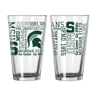 Michigan State Spartans 16-Ounce Spirit Pint Glass Set