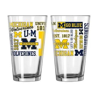 Michigan Wolverines 16-Ounce Spirit Pint Glass Set