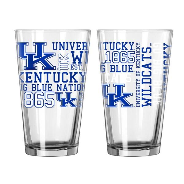 Kentucky Wildcats 16-Ounce Spirit Pint Glass Set