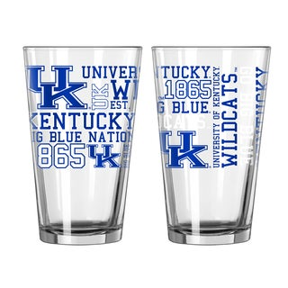 Kentucky Wildcats 16-Ounce Spirit Pint Glass Set