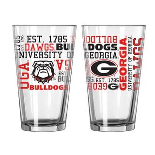 Georgia Bulldogs 16-Ounce Spirit Pint Glass Set