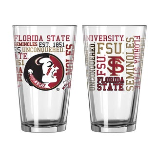 Florida State Seminoles 16-Ounce Spirit Pint Glass Set