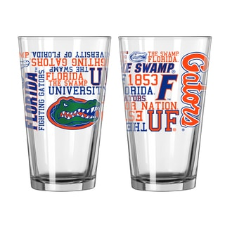 Florida Gators 16-Ounce Spirit Pint Glass Set