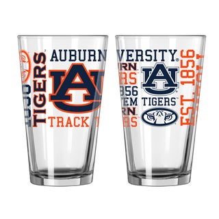 Auburn Tigers 16-Ounce Spirit Pint Glass Set