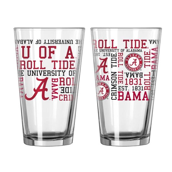 Alabama Crimson Tide 16-Ounce Spirit Pint Glass Set