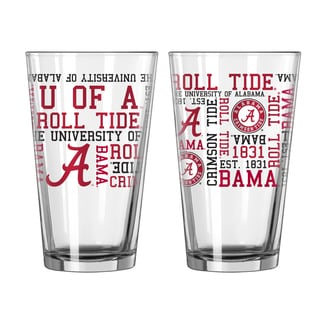 Alabama Crimson Tide 16-Ounce Spirit Pint Glass Set