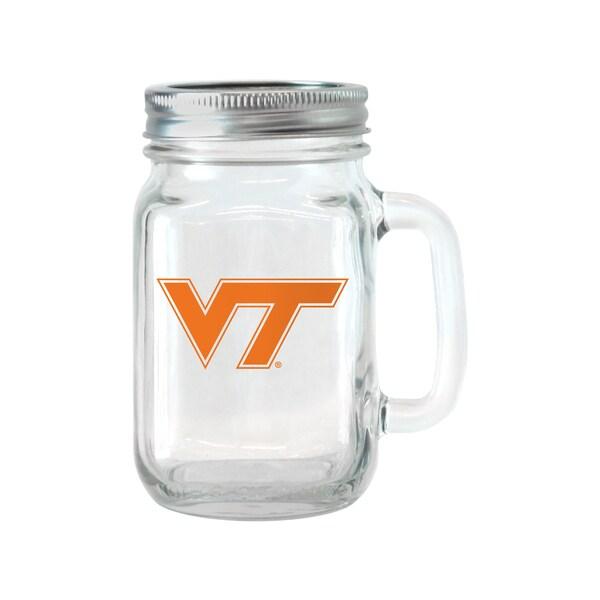Virginia Tech Hokies 16-ounce Glass Mason Jar Set