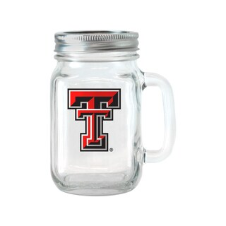 Texas Tech Red Raiders 16-ounce Glass Mason Jar Set