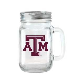 Texas A and M Aggies 16-ounce Glass Mason Jar Set