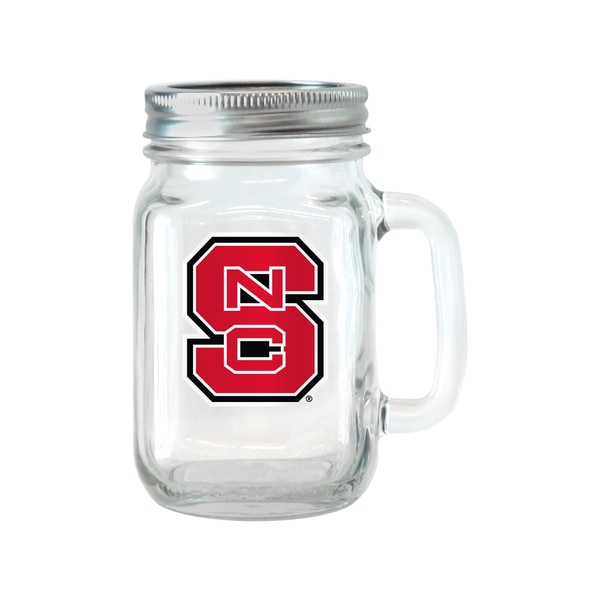 NC State Wolfpack 16-ounce Glass Mason Jar Set