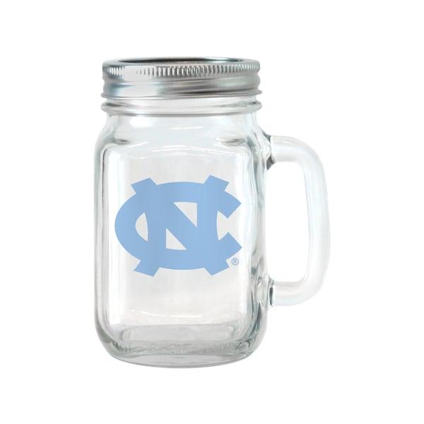 North Carolina Tar Heels 16-ounce Glass Mason Jar Set