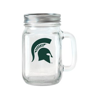 Michigan State Spartans 16-ounce Glass Mason Jar Set