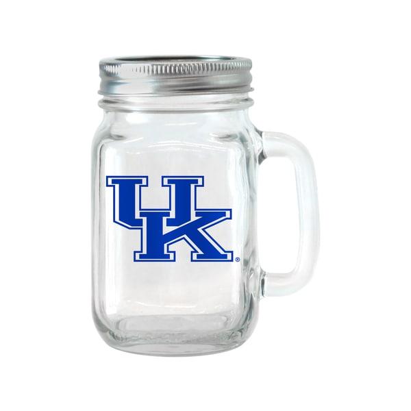 Kentucky Wildcats 16-ounce Glass Mason Jar Set
