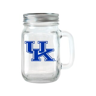 Kentucky Wildcats 16-ounce Glass Mason Jar Set