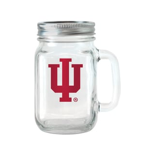 Indiana Hoosiers 16-ounce Glass Mason Jar Set