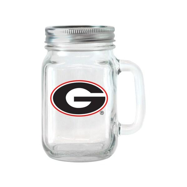 Georgia Bulldogs 16-ounce Glass Mason Jar Set
