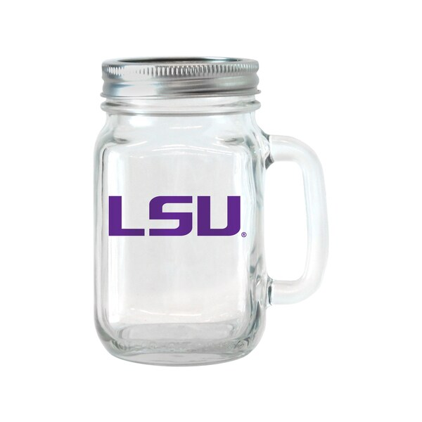 LSU Tigers 16-ounce Glass Mason Jar Set