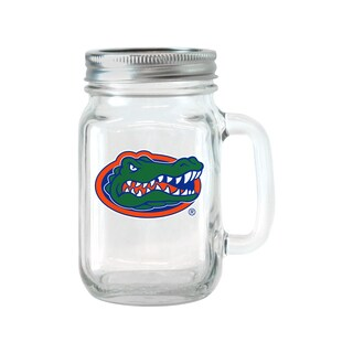 Florida Gators 16-ounce Glass Mason Jar Set