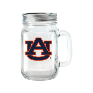 Auburn Tigers 16-ounce Glass Mason Jar Set