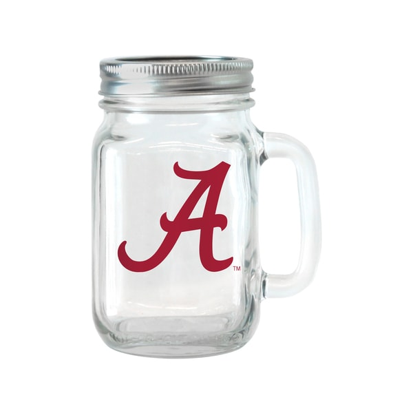Alabama Crimson Tide 16-ounce Glass Mason Jar Set