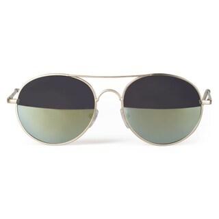Journee Collection Women's Fashion Metal Round Sunglasses