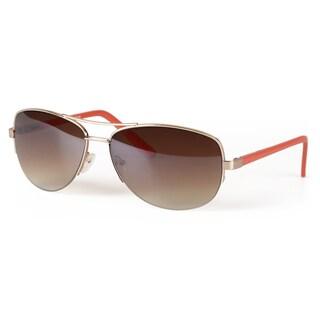 Journee Collection Women's Fashion Metal Aviator Sunglasses