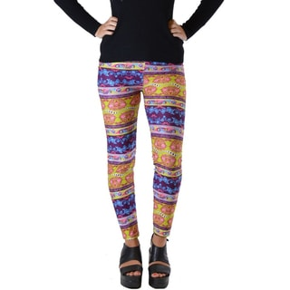 Funky Fresh Women's Boho Paisley Plus-size Ankle Leggings