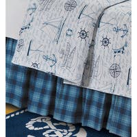 Fair Winds Plaid Cotton Bed Skirt
