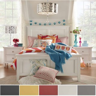 Preston Queen Wood Panel Bed by iNSPIRE Q Junior (Option: Yellow Finish)