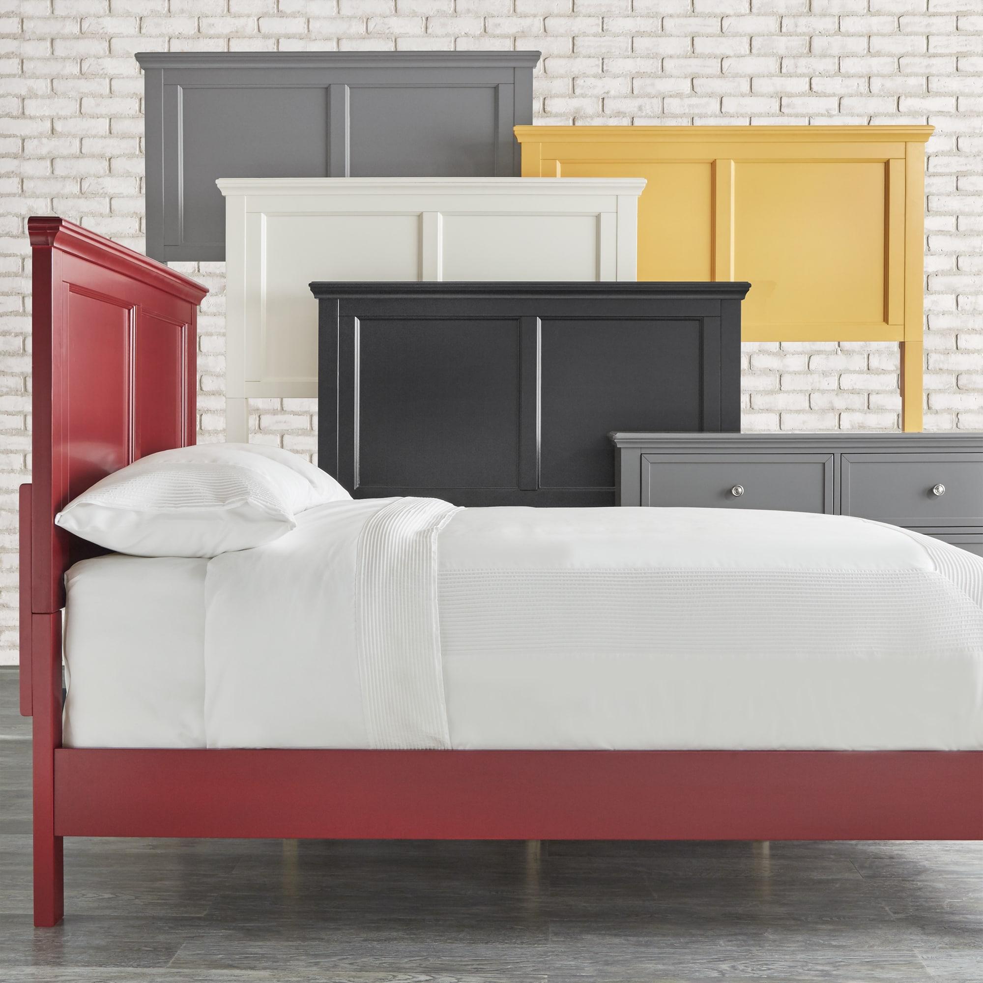 preston queen wood panel bed by inspire q junior ebay. Black Bedroom Furniture Sets. Home Design Ideas
